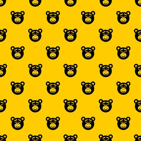 Sleeping teddy bear pattern seamless vector repeat geometric yellow for any design Stock Vector - 124576664