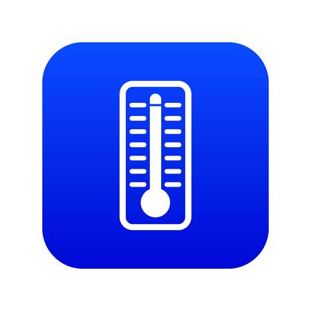 Thermometer indicates extremely high temperature icon digital blue for any design isolated on white vector illustration Stock Vector - 124576666