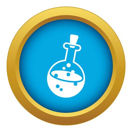 Magic potion icon blue vector isolated on white background for any design
