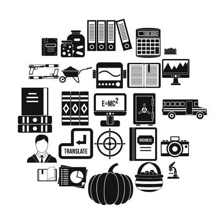 Skills icons set, simple style