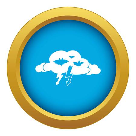 Light clouds icon blue vector isolated on white background for any design Illustration