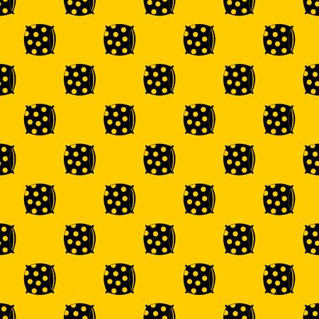 Pillow with dots pattern seamless vector repeat geometric yellow for any design Illustration