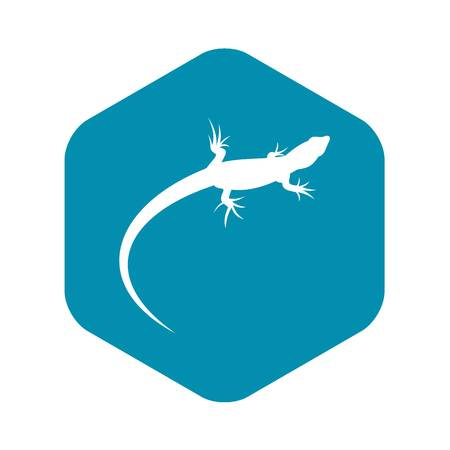 Lizard icon in simple style isolated vector illustration. Reptiles symbol Illustration