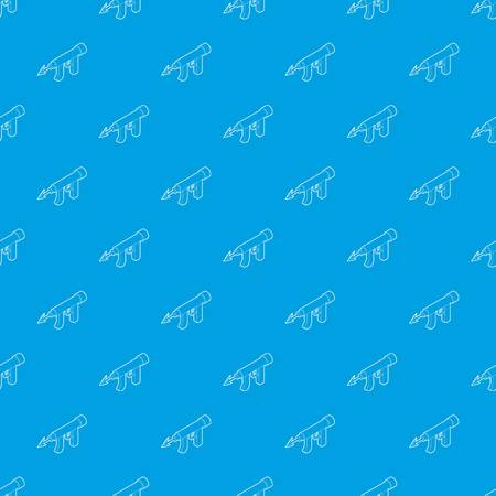 Underwater speargun pattern vector seamless blue repeat for any use  イラスト・ベクター素材