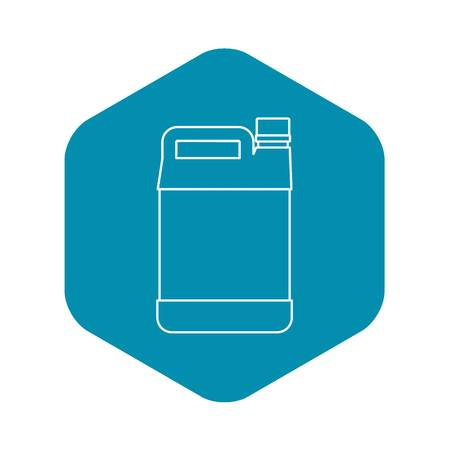 Jerrycan icon, outline style