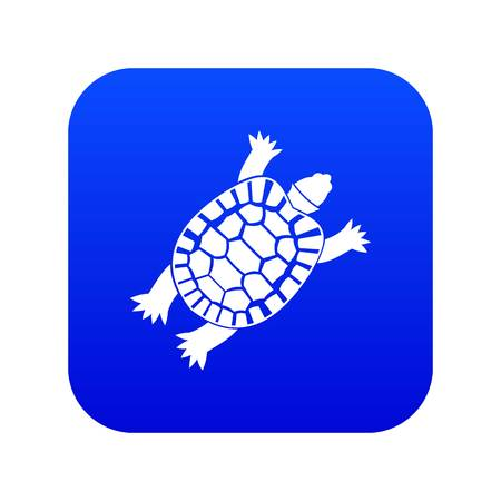 Turtle icon digital blue