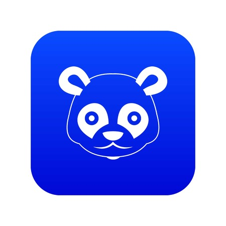 Head of panda icon digital blue for any design isolated on white vector illustration