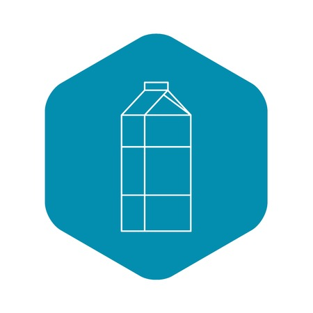 Milk box icon. Outline illustration of milk box vector icon for web design