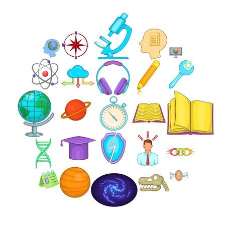 Brainstorm icons set. Cartoon set of 25 brainstorm vector icons for web isolated on white background Illustration