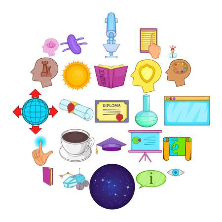 Brainwave icons set. Cartoon set of 25 brainwave vector icons for web isolated on white background