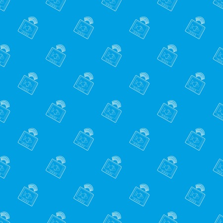 Echo sounder pattern vector seamless blue repeat for any use