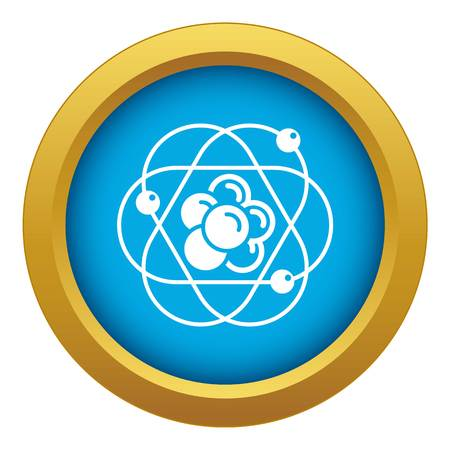 Atom molecule icon blue vector isolated on white background for any design Illustration