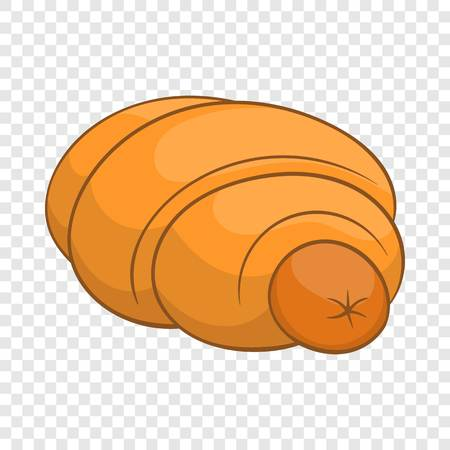 Sausage roll icon in cartoon style Illustration
