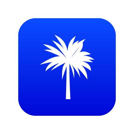 Palm icon digital blue for any design isolated on white vector illustration