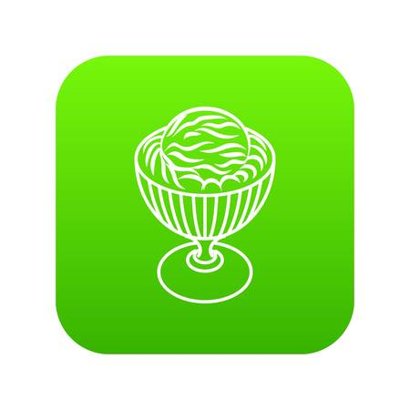 Ice cream in cup icon. Outline illustration of ice cream in cup vector icon for web