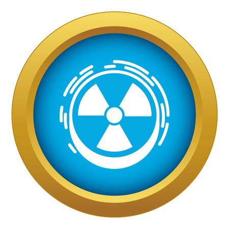 Radiation sign icon blue vector isolated on white background for any design