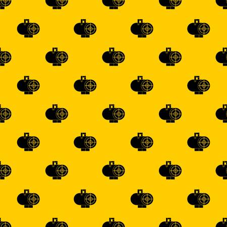 Industrial fan heater pattern seamless vector repeat geometric yellow for any design