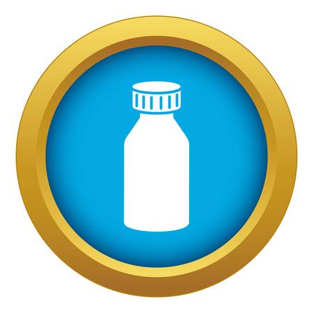 Hydrochloric acid icon blue vector isolated on white background for any design