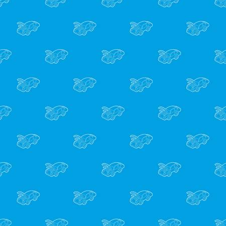 Car with wifi sign pattern vector seamless blue