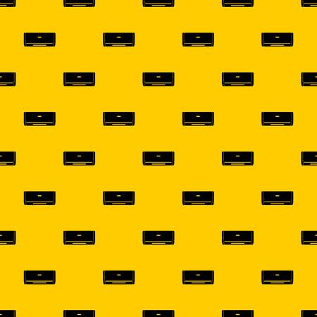 Internal unit air conditioner pattern seamless vector repeat geometric yellow for any design
