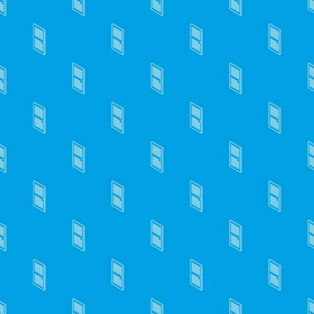Door with horizontal vent pattern vector seamless blue Ilustracja