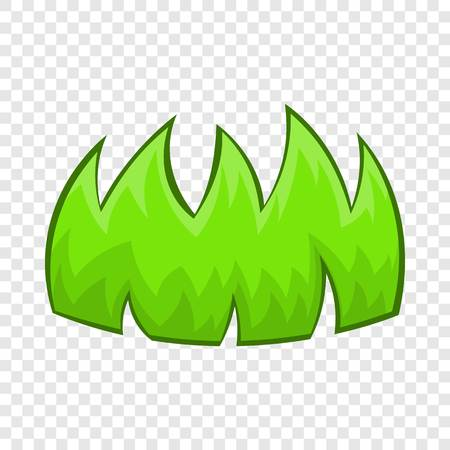 Green grass icon in cartoon style