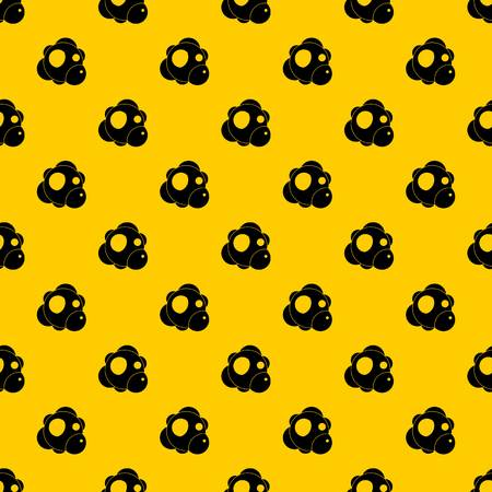 Atom pattern seamless vector repeat geometric yellow for any design Illustration