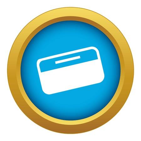 Dollar stack icon blue vector isolated on white background for any design Vektoros illusztráció