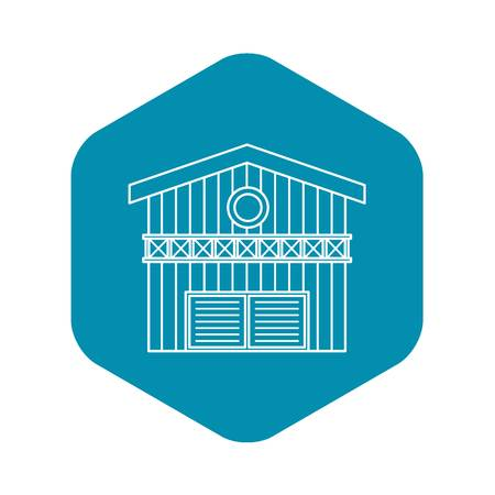 Barn for animals icon. Outline illustration of barn for animals vector icon for web design Illustration