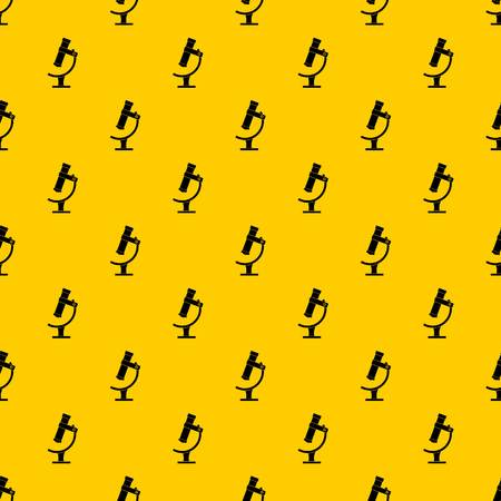 Microscope pattern seamless vector repeat geometric yellow for any design Illustration
