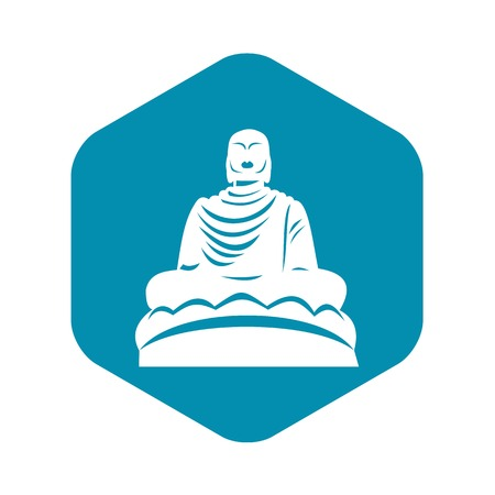 Buddha statue icon, simple style