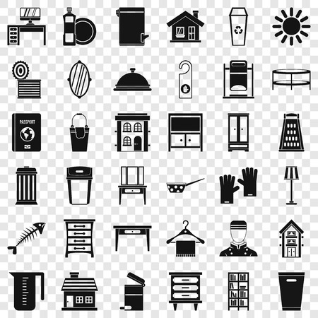 Cleaning service icons set. Simple style of 36 cleaning service vector icons for web for any design