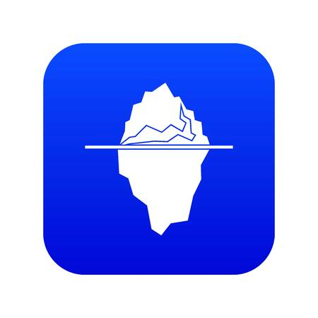 Iceberg icon digital blue for any design isolated on white vector illustration Stock Illustratie