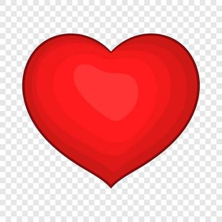 Red heart icon in cartoon style Illusztráció
