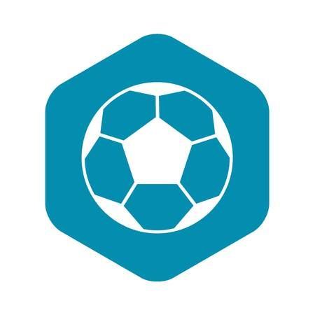 Soccer ball icon in simple style isolated vector illustration. Games symbol Illustration