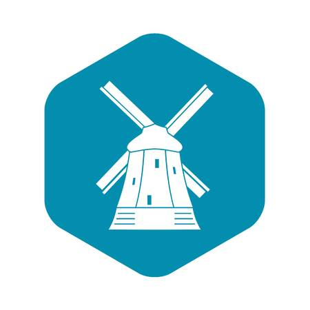 Mill icon in simple style isolated vector illustration. Structure symbol