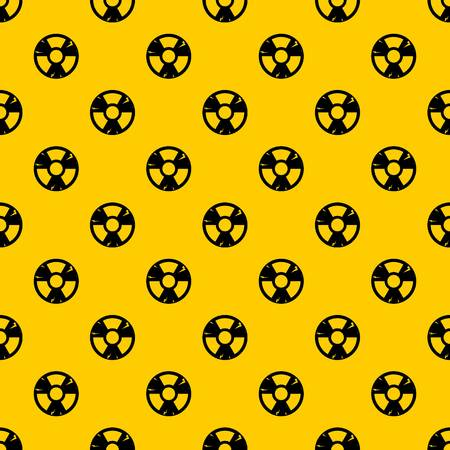 Radiation sign pattern seamless vector repeat geometric yellow for any design