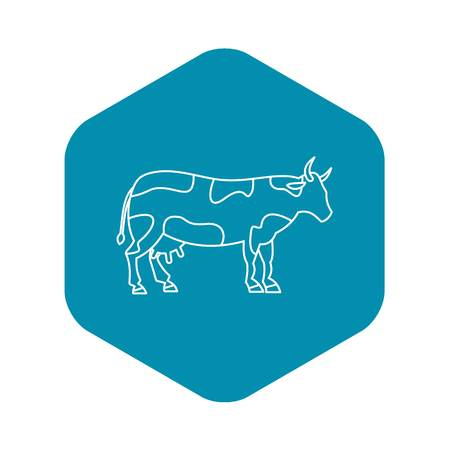 Cow icon. Outline illustration of cow vector icon for web design