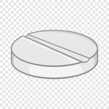 Medicine pill icon in cartoon style