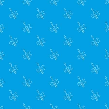 Bolt driver pattern vector seamless blue Stok Fotoğraf - 118806852