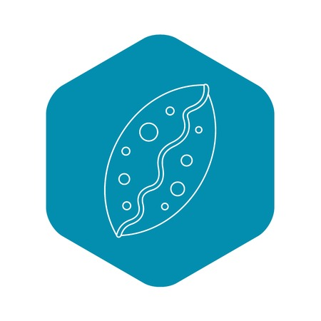 Small pie icon. Outline illustration of small pie vector icon for web