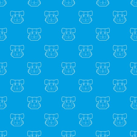 Backpack pattern vector seamless blue repeat for any use Illustration