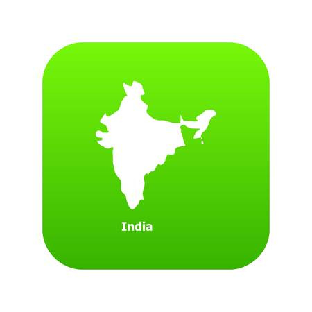 India map icon, simple style Illustration