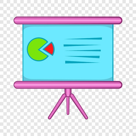 Table with schedule icon, cartoon style Illustration