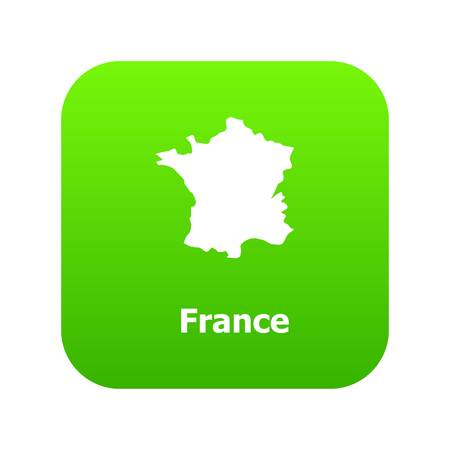 France map icon, simple style