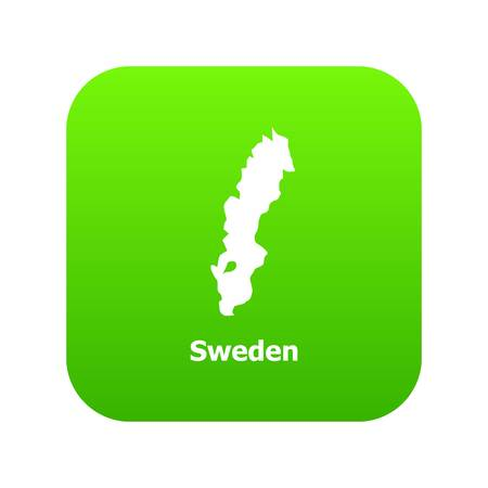 Sweden map icon, simple style