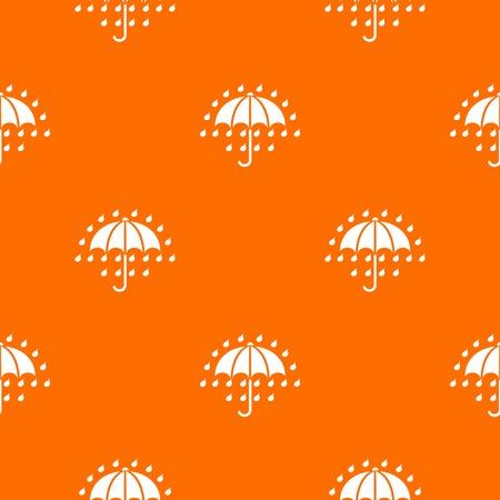 Umbrella pattern vector orange for any web design best 向量圖像