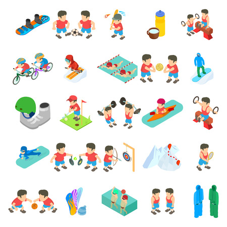 Sport competition icons set. Isometric set of 25 sport competition vector icons for web isolated on white background