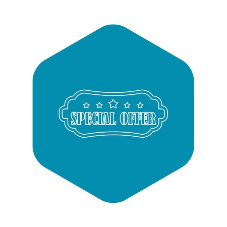 Special offer label icon. Outline illustration of special offer label vector icon for web