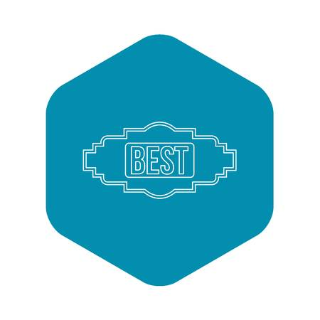 Best label icon. Outline illustration of best label vector icon for web